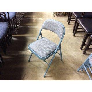 Blue padded metal folding chair (8/20/2020)