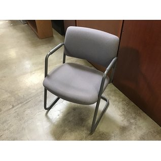 Gray padded sled base side chair (8/21/2020)