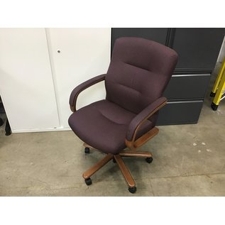 Maroon high back Conference  room chair on castors (9/14/20)