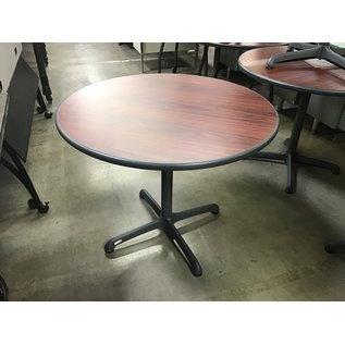"36"" Cherry color top round table/single pedestal (9/14/20)"