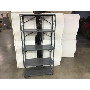 """17 1/2x36 1/2x73"""" Gray metal light duty utility  shelf (10/06/20)"""