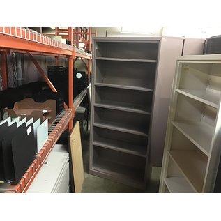 """15x36x80 1/2"""" Mauve metal bookcase w/13 1/4"""" deep shelves (10/06/20)"""
