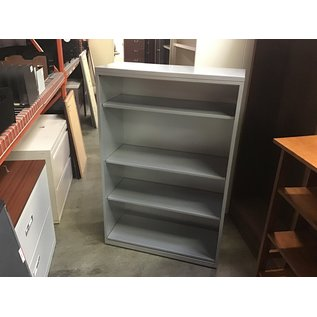 "15x36x55"" Gray metal bookcase w/13 1/2"" deep shelves (10/06/20)"