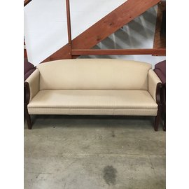 32x70w x36 ht Gold wooden  sitting couch (10/8/20)