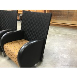 Black/gold  padded lounge chair (10/8/20)