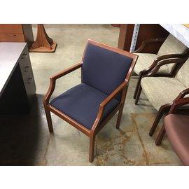 DK blue wood frame side chair (10/09/20)