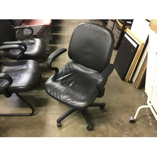 Black leather desk chair (10/13/2020)