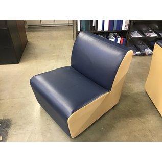 Blue/Gold vinyl lounge chair on castors (10/13/2020)
