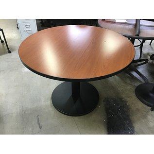 "42"" light cherry table black metal base (10/13/20)"