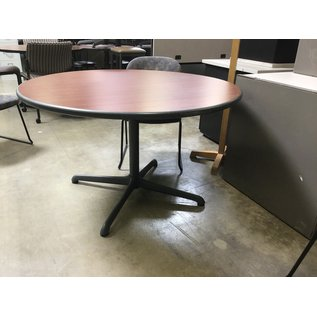 "48"" wood round table metal base (10/13/20)"