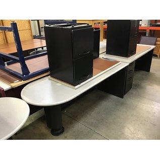 "29 1/2x72x29 1/2"" Gray/black R/return desk (10/13/2020)"