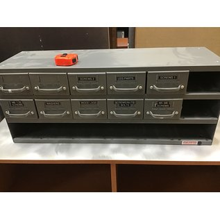 11x34x13 1/2 gray metal storage  box (1014/20)