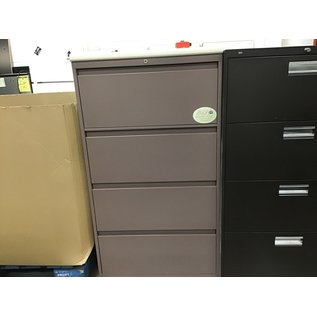 18 1/2x30x54 mauve 4 drawer file cabinet (10/14/20)