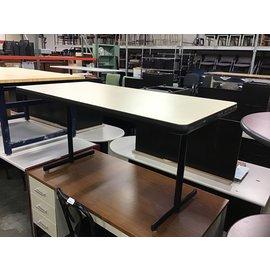"""29 1/2x59 1/2x29"""" Tan top work table (10/15/2020)"""