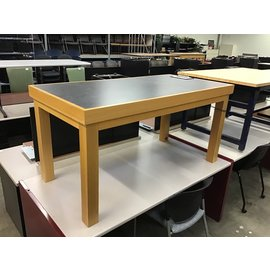 """30x60x30"""" Wood work table w/media connections (10/15/2020)"""