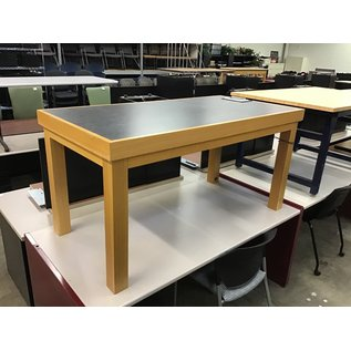 "30x60x30"" Wood work table w/media connections (10/15/2020)"