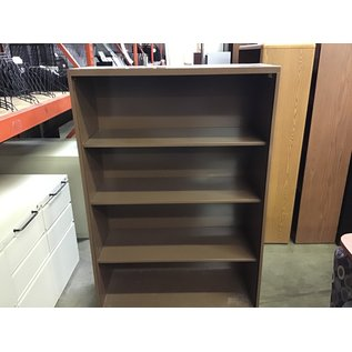 15x36x53 Brown metal 4 shelf bookcase (10/15/20)