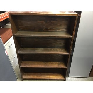 9 1/2x32 1/2x48 Brown wood 4 shell bookcase (10/15/20)