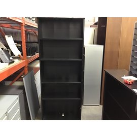 11x32 1/2x73 Black wood 5 shelf bookcase (10/15/20)