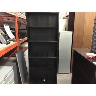 11x32 1/2x73 Black wood 5 shelf bookcase (10/15/20)