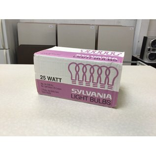 Sylvania 25W light bulbs - 6pack (10/16/2020)
