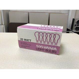 Sylvania is 25W light bulbs - 6pack (10/16/2020)