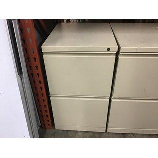"15x18x27"" Beige metal 2 dr file cabinet )10/20/2020)"