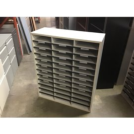 "11 3/4x29x35"" Lt gray 36 slot mail unit (10/20/2020)"