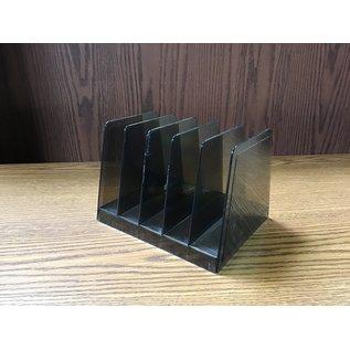 Black 5 slot plastic letter holder (10/20/2020)