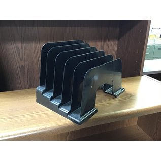 Black plastic 5 slot file organizer (10/20/2020)