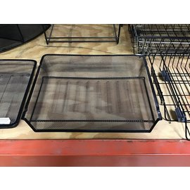 Black mesh metal single paper tray (10/20/2020)
