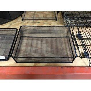 Black mesh metal single paper tray (10/20/2020)