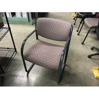Mauve pattern sled base side chair (10/21/2020)