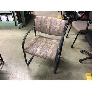 Brown pattern sled base side chair (10/21/2020)