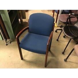 Dk blue wood frame side chair (10/21/2020)