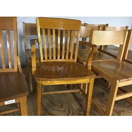 Wood student desk chair w/arms (10/21/2020)