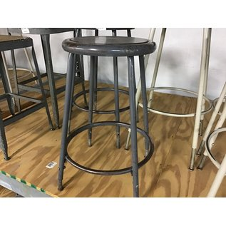 Gray metal adjustable height lab stool (3/12/2020)