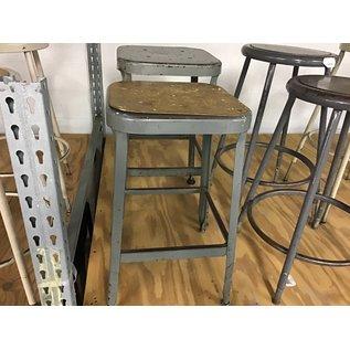 Gray metal lab stool (10/21/2020)