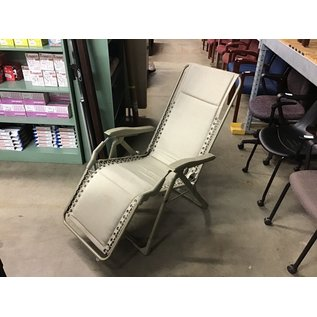 Tan outdoor lounge chair (10/21/2020)