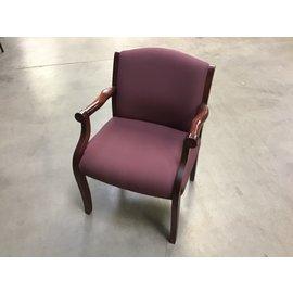 Mauve wood frame side chair (10/21/2020)