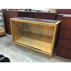 "30 3/4x69 3/4x46 1/4"" Wood/glass display case w/lights (10/21/2020)"