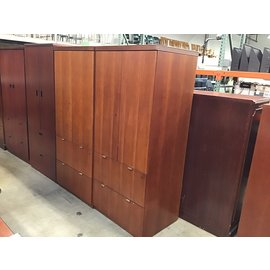 "24x30x69"" Cherry wood cabinet w/2 file drawers (10/21/2020)"