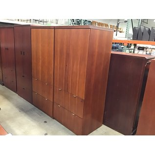 """24x30x69"""" Cherry wood cabinet w/2 file drawers (10/21/2020)"""