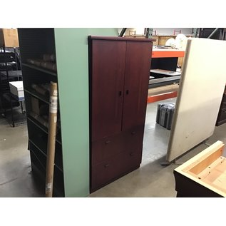 "24x36x69 1/2"" Cherry cabinet w/2 file drawers (10/21/2020)"