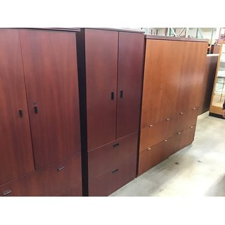 "24x30x70 1/2"" Cherry wood cabinet w/2 file drawers (10/21/2020)"