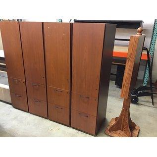 """24x18x67"""" Cherry wood cabinet w/1 door & 2 drawers (10/21/2020)"""