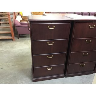 """21 1/2x31x54 1/2"""" Cherry 4 drawer lateral file"""