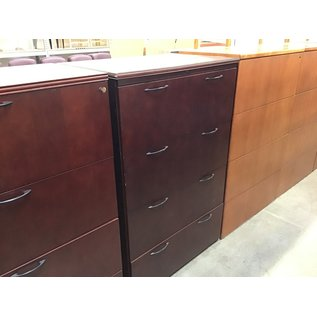 """23 1/2x36x56 1/2"""" Cherry 4 drawer lateral file cabinet  (10/21/2020)"""