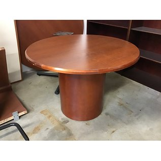 """41 1/2"""" Cherry wood single ped round table (10/21/2020)"""