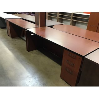 "72x102x72"" Cherry laminate U-Shape desk (10/21/2020)"